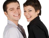 Abbildung eines lächelnden jungen Paares in der Liebe Lizenzfreie Stockfotos