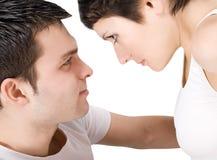 Abbildung eines lächelnden jungen Paares in der Liebe Lizenzfreies Stockbild