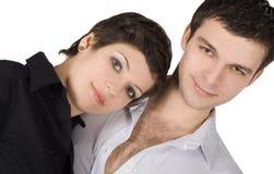 Abbildung eines lächelnden jungen Paares in der Liebe Lizenzfreies Stockfoto