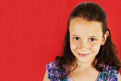 Abbildung eines lustigen kleinen Mädchens Stockfotografie