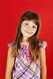 Abbildung eines lustigen kleinen Mädchens Stockfotos