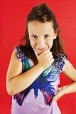 Abbildung eines lustigen kleinen Mädchens Lizenzfreie Stockfotos
