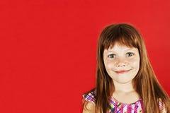 Abbildung eines lustigen kleinen Mädchens Lizenzfreies Stockfoto