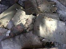 Abbildung eines Metallhintergrundes Stockfotos