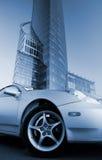 Abbildung eines modernen Sportwagens Stockfotos