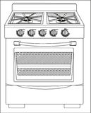 Abbildung eines Ofens Stockbilder