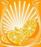 Abbildung eines orange Hintergrundes lizenzfreie abbildung
