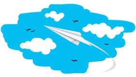 Abbildung eines Papierflugzeuges Stockfotos