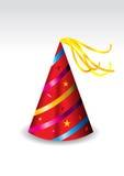 Abbildung eines roten Partyhutes Lizenzfreie Stockfotos