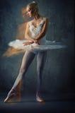 Abbildung eines schönen Balletttänzers. Stockfoto