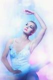 Abbildung eines schönen Balletttänzers. Stockfotografie