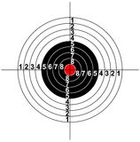 Abbildung eines Zielsymbols Lizenzfreie Stockbilder
