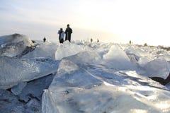 Abbildung eingelassene Antarktik auf dem Eisregal Lizenzfreies Stockfoto