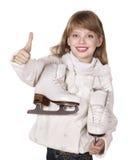 Abbildung Eislauf des jungen Mädchens. Stockfotografie