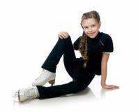 Abbildung Eislauf des jungen Mädchens Stockfotos