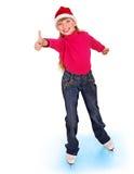 Abbildung Eislauf des jungen Mädchens. Lizenzfreie Stockfotos