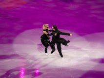Abbildung Eislauf olympische Gala, Domnina u. Shabalin Lizenzfreie Stockfotos