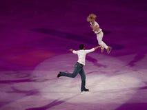Abbildung Eislauf olympische Gala, Savchenko u. Szolkowy Lizenzfreies Stockbild