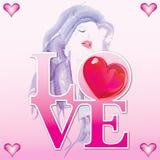 Abbildung für Valentinstag Stockbild