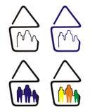 Abbildung: Familie und Haus lizenzfreie stockfotografie