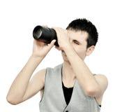 Abbildung gesehen durch das Objektiv stockbild