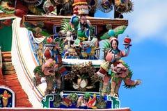 Abbildung im Dach des Buddhismus-Tempels Lizenzfreies Stockbild