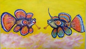 Abbildung Isabella-Fische mit lobutenes lizenzfreies stockbild