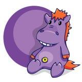Abbildung Lächelndes Flusspferd des weichen Spaßspielzeugs Lizenzfreie Stockfotos