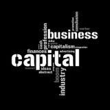 Abbildung mit ökonomischen Ausdrücken Stockfoto