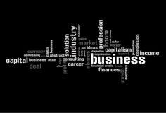 Abbildung mit ökonomischen Ausdrücken Stockfotografie