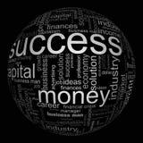Abbildung mit ökonomischen Ausdrücken Lizenzfreie Stockfotos