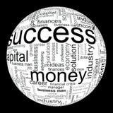 Abbildung mit ökonomischen Ausdrücken Lizenzfreie Stockfotografie
