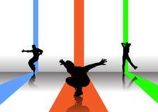 Abbildung mit 3 Tänzern Lizenzfreie Stockfotografie