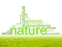 Abbildung mit Ausdrücken mögen natur oder Umgebung Stockbild