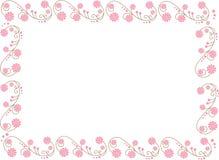 Abbildung mit Blumen Lizenzfreies Stockfoto