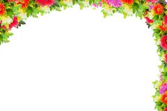 Abbildung mit Blumen Stockfoto