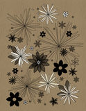 Abbildung mit Blumenauslegung Stockbilder