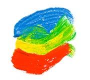 Abbildung mit den farbigen Lacken Stockbilder