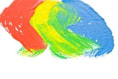 Abbildung mit den farbigen Lacken Stockfotografie