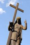 Abbildung mit einem Kreuz auf blauem Himmel Lizenzfreie Stockfotos