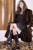 Abbildung mit schönem Mädchen Stockfoto