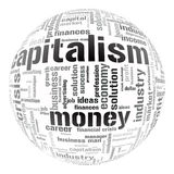 Abbildung mit verschiedenen ökonomischen Ausdrücken Stockfotos