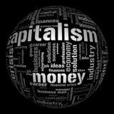 Abbildung mit verschiedenen ökonomischen Ausdrücken Stockbilder