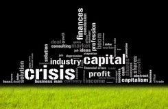 Abbildung mit verschiedenen ökonomischen Ausdrücken Lizenzfreie Stockfotografie