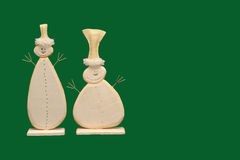 Abbildung mit zwei Schneemännern Stockfotografie