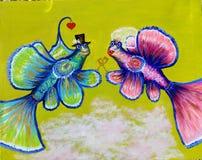 Abbildung Orlando- und Izabella-Fische stockbild
