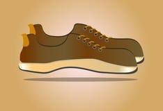 Abbildung Retro- Schuhe Stockbild