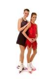 Abbildung Schlittschuhläufer-Paar Stockbild