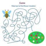 Abbildung Spiel für Kinder Labyrinth oder Labyrinth für ki lizenzfreie stockbilder