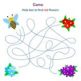 Abbildung Spiel für Kinder Labyrinth oder Labyrinth für ki lizenzfreie stockfotos